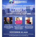 Join Us! Women's Entrepreneurship Day – United Nations – November 18th, 2016